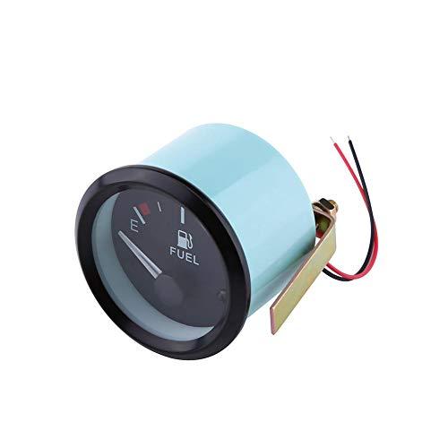 Brandstofindicator, 52 mm universele autobrandstofniveau-indicator LED digitale E-1/F-afstandsmeter met brandstofsensor