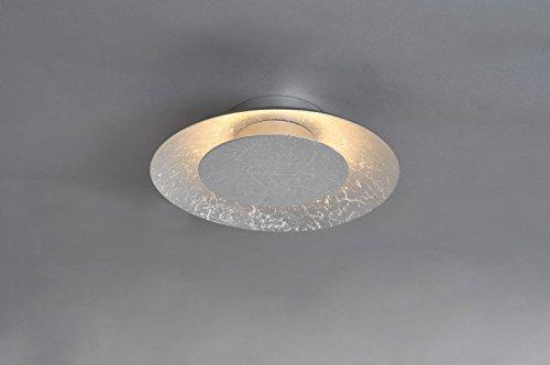 LED Deckenleuchte Silber Vintage 3000K Ø22cm indirekte Beleuchtung Lampe Schlafzimmer Wohnzimmer