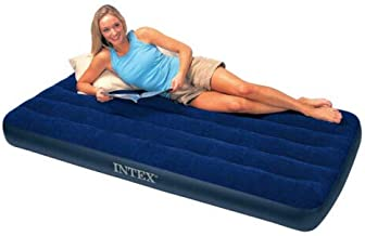 Momai Inflatable Twin Classic Air Bed/Mattress, Twin Size Classic Downy Air Bed Inflatable Mattress Waterproof Blue - 68950