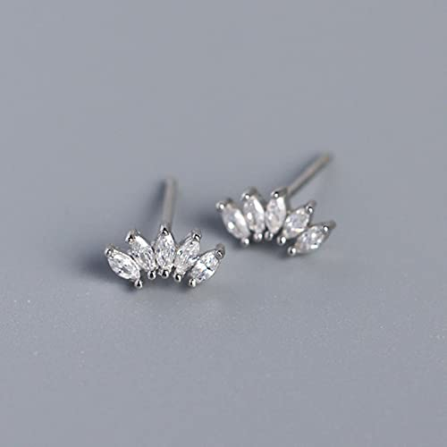 TTGE Luxury Genuine 925 Sterling SilverHorse Eye Stud Earrings for Women Chic Office Youth Jewelry Accessories