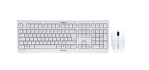 CHERRY DW 3000 – Wireless Tastatur+Maus – 4 Zusatztasten – deutsches Layout – QWERTZ Tastatur – GS-Zulassung – Weiß, JD-0710DE-0