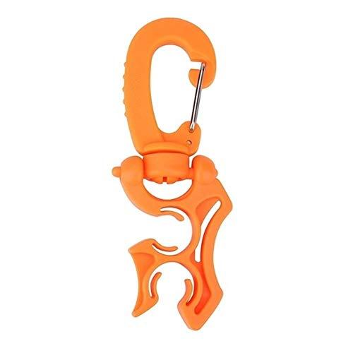 IGOSAIT Agradable Regulador de Doble Manguera Soporte con Clip de Hebilla de Doble Gancho Clip regulador de retención de la Hebilla for el Buceo Snorkel Buceo Cómodo (Color : Orange)