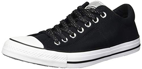 Converse Women's Chuck Taylor All Star Madison Low Top Sneaker, Black/Silver/White, 5 M US
