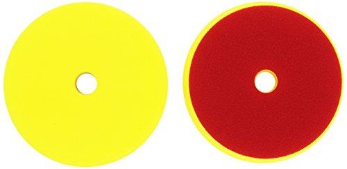 ALCLEAR Set de 2 Discos pulidor Medio para máquinas RUPES, para un Sistema de Disco Ø 145/128 x 25 mm, Amarillo