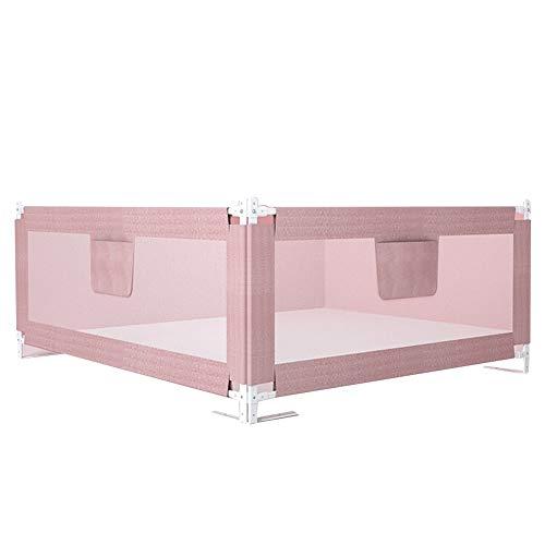 XJJUN Barrière De Lit 2 Surface Vertical Lift Height Adjustable Fall Prevention Barrière De Sécurité for Lit De Bébé Storage Bag Anti-Collision Cotton Bed, 3 Colors