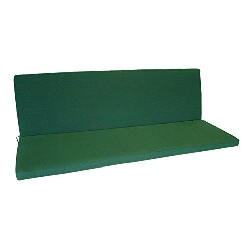 Bankauflage 3-sitzer Denver mit Rückenteil 140x88cm, dunkelgrün