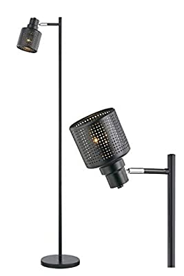 Modern Floor Lamp for Living Room Bright Lighting Tall Lamp Farmhouse Torchiere Rustic Industrial Floor Lamps for Bedrooms, Office, Reading, Task Vintage Black Standing Lamp Pole Corner Floor Light