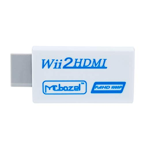 Mcbazel Wii a HDMI Converter, convertidor de Adaptador de Video Full HD 1080P con Audio de 3.5mm