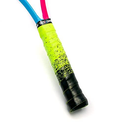 Get a Grip - Empuñaduras de tenis personalizadas - Cinta antideslizante y de tacto seco para raqueta de tenis (pinta las líneas, 1 agarre)