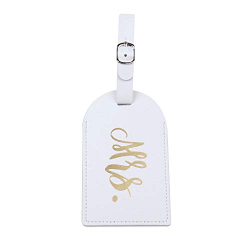 suoryisrty Fashion Travel Luggage Tags Mr Mrs Wedding Bridal Gift Cute Identifier Suitcase White