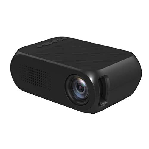 Mini draagbare Smart Home Cinema-projector voor mobiele telefoon USB 600 Lm Focus Projetor Home Theater mediaspeler Beamer - Zwart EU-stekker