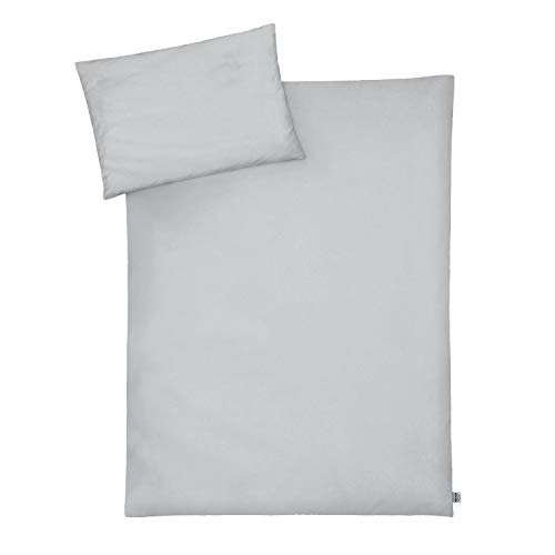 Julius Zöllner 8710148536 Parure de lit pour enfant 100 x 135 cm + 40 x 60 cm (Gris)