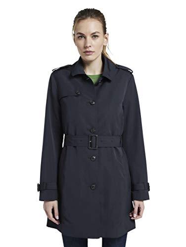 TOM TAILOR Damen Jacken Wasserabweisender Trenchcoat Sky Captain Blue,XL