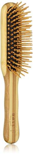Bass Brushes | The Green Brush | Bamboo Pin + Bamboo Handle Hair Brush | Small Paddle