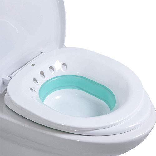 Bwelcam Bidet Bidetbecken,Faltbar Bidetschüssel Sitzbadewanne Sitzbäder, Sitzbad Bidet Einsatz Toiletteneinsatz für Hämorrhoidenbehandlung, Wochenbettpflege, Schwangere, Episiotomie