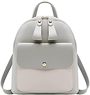 Women Fashion Teen Girls Backpack Mini Faux Leather Front Pocket Small Backpack Purse with Cute Bear by Lowprofile Gold