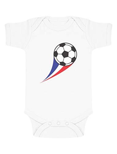 Green Turtle T-Shirts Body bébé Fan de Foot Drapeau Francais idée Naissance Body Bébé Manche Courte 3-6 Mois Blanc