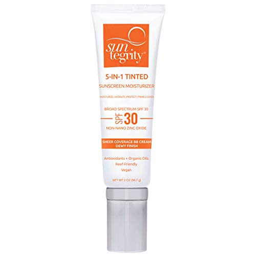 Suntegrity Tinted 5 in 1 Mineral Sunscreen for Face (SPF 30-2 oz) - Light | Natural BB...