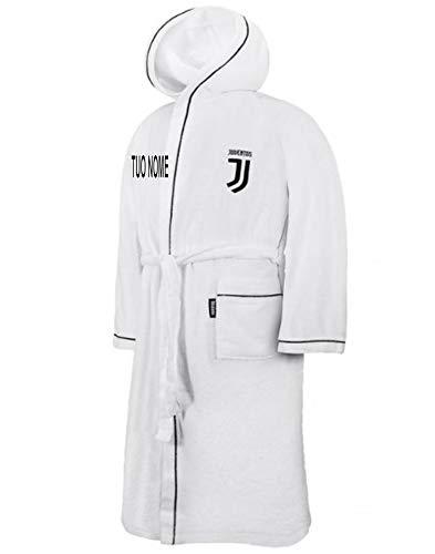 MAESTRI DEL CALCIO Accappatoio Spugna Ufficiale Personalizzato Personalizzabile (Ricamato Ricamo) (L) Juv JUVENTU (Dybala, Ronaldo, HIGUAIN, Buffon, Chiellini)