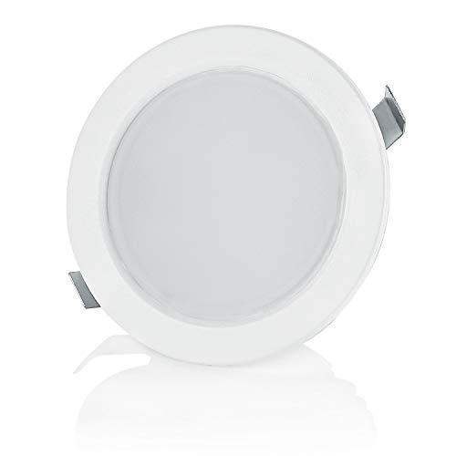 sweet-led 1-4er Pack, 3.5W LED, 230V IP44, Flache Möbelleuchte, Möbel Einbaustrahler Einbauleuchte, Badleuchte Einbauspot, ultra flach Mini Feuchtraum (4er-Warmweiß)