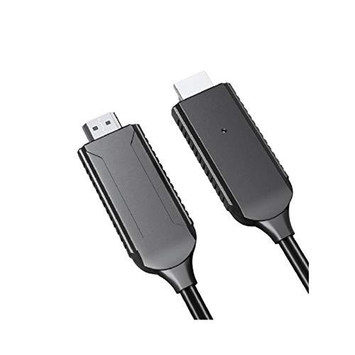 LLSL El Conector de la Pantalla de sincronización HDMI, el proyector con Cable admite Youtube, Adecuado para Apple/Android Tipo Tipo Móvil Push Treasure TV con Dispositivo de Pantalla
