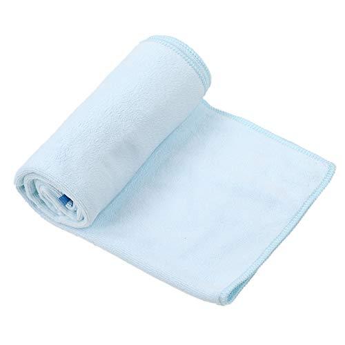 Redxiao Toalla Suave Herramienta de Limpieza de Vidrio Resistente al Desgaste Azul 2 tamaños Diferentes Toalla de Limpieza de pecera, Herramienta de Limpieza de Acuario, Super Fibra(35 * 75cm)
