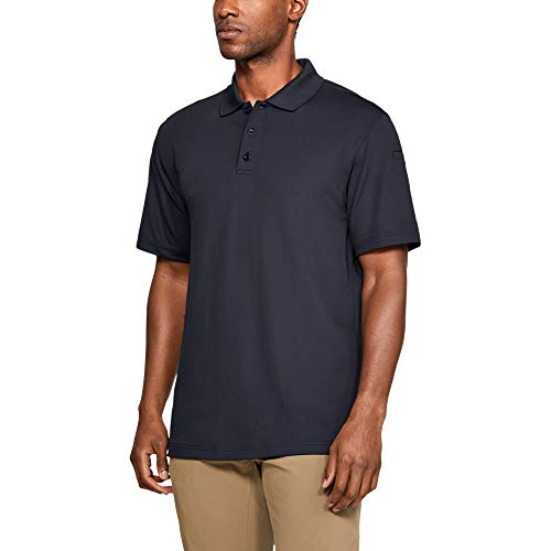 Under Armour Men's Tactical Performance Polo, Dark Navy Blue/Dark Navy Blue, Small