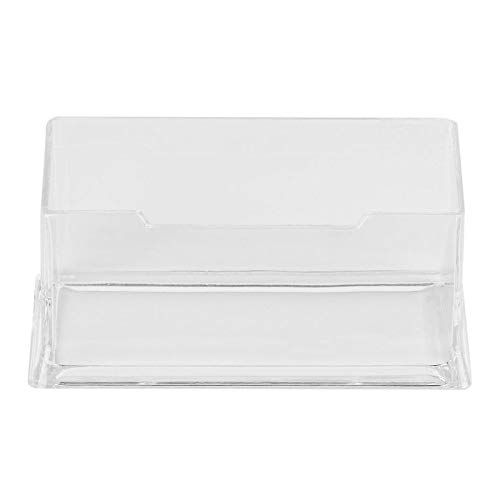 BianchiPatricia Clear Desktop Business Card Holder Display Stand Acrylic Plastic Desk Shelf