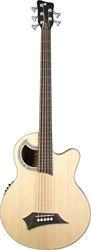 Warwick Rockbass Alien Delux – Guitarra acústica Deluxe – Bajo acústico 5 cuerdas, natural