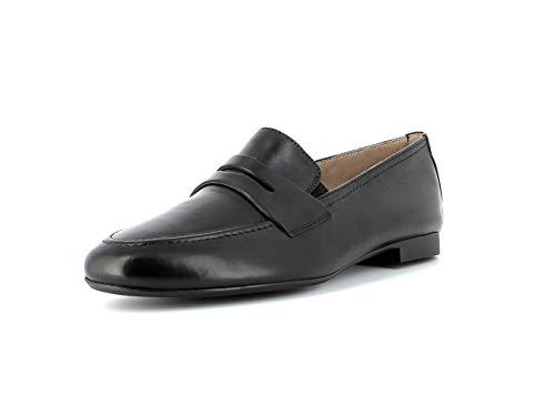 Paul Green Damen SlipperMokassins 2593, Frauen Slipper, schlupfhalbschuh Slip-on College Schuh Loafer businessschuh weibliche,SCHWARZ,37 EU / 4 UK