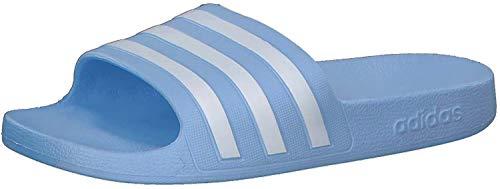 adidas CORE Women Adilette Aqua Badeschuh, Glow Blue Cloud White Glow Blue, Gr.- 38 EU