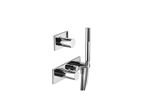 Fantastic Deal! Fantini Milano thermostatic shower mixer with 2 stop valves and handshower 4712B-Chr...
