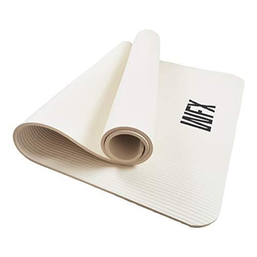 #DoYourFitness®️ x World Fitness®️ - XXL Fitnessmatte »Ashanti« - 190 x 100 x 1 cm - rutschfest & robust - Yogamatte Gymnastikmatte ideal für Yoga, Pilates, Workout, Outdoor & Gym - Weiß