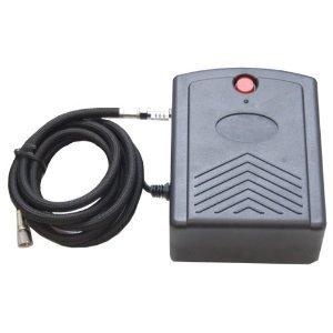 12-Volt DC Mini Air Brush Compressor w/Direct Plug-in 110-AC Adapter