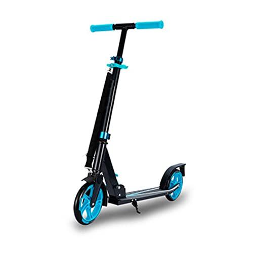 XXXD Vespa de pie de moda, scooter de dos ruedas de viaje diario para adultos/jóvenes de viaje de dos ruedas azul