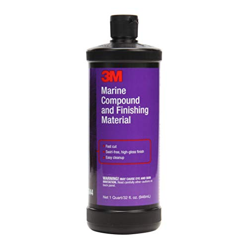 3M Marine Compound and Finishing Material (06044)– For Boats and RVs – 32 Ounces