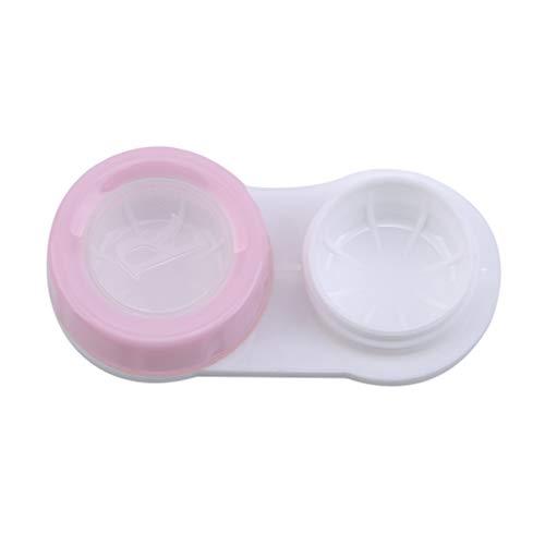 #N/A Zoomne Kontaktlinsenkoffer Flat Design Aufbewahrungskoffer für das Eyes Travel Kit,Rosa grünlich