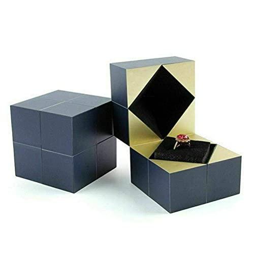 YUACY Joyero creativo Rubiks cubo anillo caja personalidad caja regalo propuesta confesión caja de regalo regalo regalo día de San Valentín