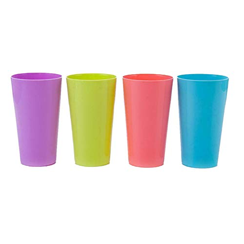 4 vasos de plástico duraderos para beber, tazas de agua de gran calibre para cocina, fiestas al aire libre, picnics.