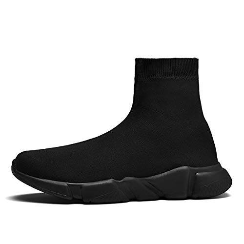Calcetines Altos de Moda Zapatos para Correr para Mujer, para Hombre, Ligeros, Transpirables, Casuales, Deportivos, Zapatos para Caminar, Negro 41