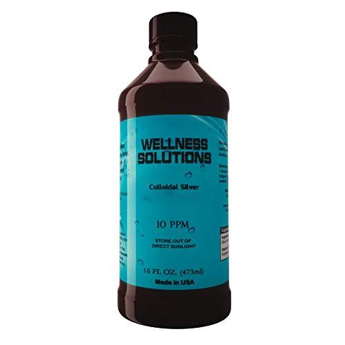 Colloidal Silver - Wellness Solutions - Vegan and Gluten Free -16 fl. oz