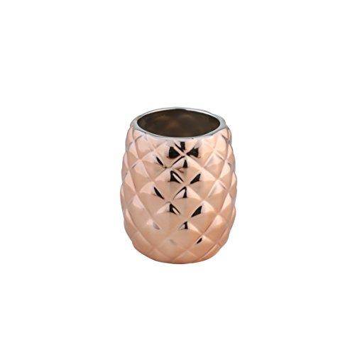 axentia Zahnputzbecher Copper kupferfarben, hochwertig verarbeiteter Zahnbürstenhalter aus Keramik, Bürstenständer mit modernem und schlichtem Design, Zahnbürstenständer mit schöner Farbe