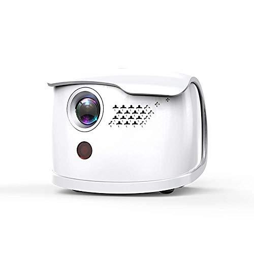 Proyector de vídeo de cine en casa Inalámbrico Wi-Fi Mini Proyector DLP proyector es compatible con 1080p y 3D con HDMI, USB, compatible con el iPhone, Android, ordenador portátil for Home Entertainme