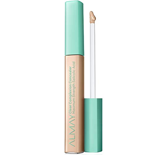 Almay Clear Complexion Concealer, Matte Finish with Salicylic Acid and Aloe, Oil Free, Hypoallergenic, Cruelty Free, Fragrance Free, Dermatologist Tested, 100 Light, 0.18 oz