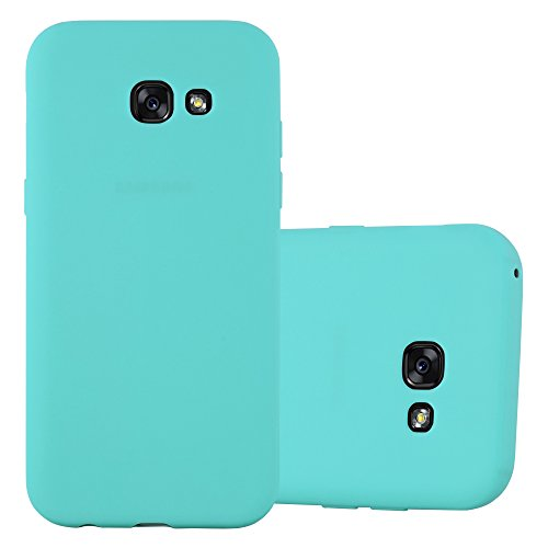 Cadorabo Funda para Samsung Galaxy A7 2017 en Candy Azul - Cubierta Proteccíon de Silicona TPU Delgada e Flexible con Antichoque - Gel Case Cover Carcasa Ligera