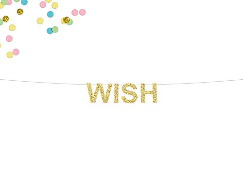 Deseo Glitter Banner Hacer un Deseo Banner Cumpleaños Banner Bebé Novia Ducha Deseos Twinkle Boda Deseos Deseos