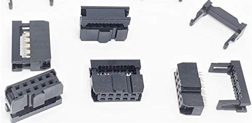 PC Accessories - Connectors Pro 50-Pack 2X5 10P 2.54mm Dual Rows IDC Sockets for Flat Ribbon Cable, 10 Pins FC Female Connector