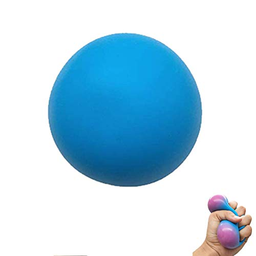 Bolas de Agarre, Entrenador de Mano, Entrenador de Dedos, Dispositivo de Entrenamiento de Mano con Bola de Dedo para aliviar la presión, Fortalecer la Mano y los Dedos (Azul)