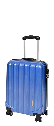 4 Wheels Cabin Size Hand Luggage Built-in Lock Strong Hard Shell Suitcase Travel Bag A403 Blue
