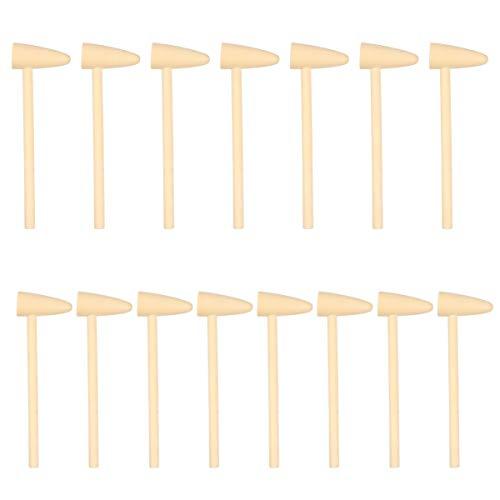TOYANDONA 15 Unids Mini Mazos de Madera Cangrejo Mazos de Langosta Martillos Pequeños Martillo de Madera Batiendo Mazo Juguetes para Niños Pequeños